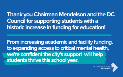 DC Charter School Alliance Applauds Investment in Education in FY22 Budget
